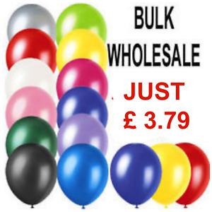 100 LARGE PLAIN BALLOONS BALLONS helium balloons Quality Birthday Party Decorati