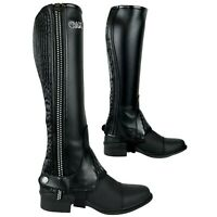 AK Flexi Crystal Horse Riding Half Chaps with Contour Fitting