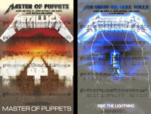 Metallica Lot (2) Music Art 11 x 17 High Quality Posters Master of Puppets