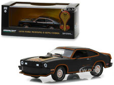 1978 FORD MUSTANG COBRA II BLACK W/GOLD STRIPES 1/43 DIECAST BY GREENLIGHT 86320