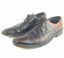 Vtg Cole Haan Mens 12M Brown Conditioned Leather 4-Eye Lace-Up Oxfords, India