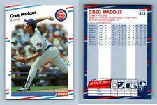 Greg Maddux - Cubs #423 Fleer 1988 Baseball Trading Card