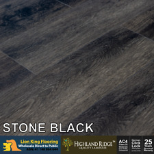 12mm Laminate Flooring/ Laminate Timber Floating Floorboard  - Stone Black
