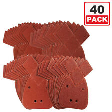 40 Mixed Grit Mouse Sanding Sheets to Fit Black and Decker Detail