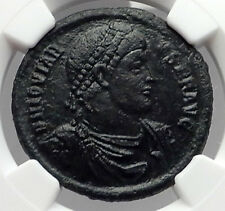 JOVIAN 363AD AE1 Large Authentic Ancient Roman Coin Chi-Rho Labarum NGC i59846