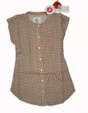 Kurzarm Mädchen-Blusen ohne Kragen