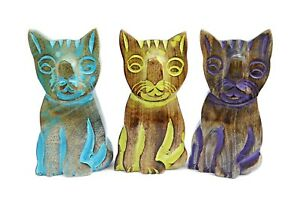 Wooden Cat Glasses Holder Spectacle Stand Freestanding Handmade Fair Trade Eco