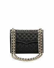 NWT Rebecca Minkoff Mini Affair Quilted Studded Leather Bag BLACK Gold AUTHENTIC