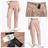 POLO Ralph Lauren Women's Chino Trousers Pale Pink Size 14 UK NEW RRP £199