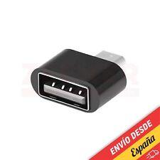 Adaptador OTG micro USB a USB 2.0 - NEGRO [ Smartphone - Tablet - Android ]