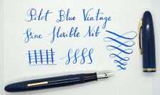 EXCELLENT Pilot Blue Vintage (1940-50's ?) fountain pen. Fine Flexible Nib.
