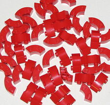 Lego Lot of 50 Red Bricks Round Corner 2 x 2 Macaroni Pieces