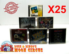 25X PC GAME / SOFTWARE CD-ROM JEWEL CASE -CLEAR PROTECTIVE BOX PROTECTORS SLEEVE
