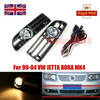 Bumper Grille Grill Driving Fog Lamp Lights + Switch For 99-04 VW JETTA BORA MK4