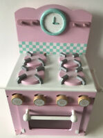 Le Toy Van - Educational Wooden Honeybake Oven & Hob Pink Pretend Kitchen