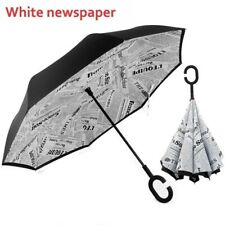 C-Handle Double Layer Umbrella Windproof Folding Inverted Upside Down Reverse US