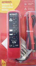 NEW Battery & Alternator Tester All Car Vehicle 12V Systm Charge Level Indicator