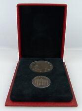2 echte Silber Münzen im Verleihungsetui SELTEN Wilhelm Pieck Brande , Orden3149
