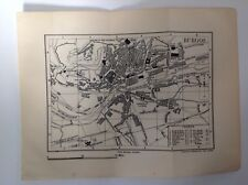 Burgos, ciudad plan, España, 1892 antiguo mapa, Murray's Original