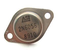 2N6058 NPN Darlington Power Amplifier Transistor: TO-3 Case: Great Price