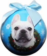 Frenchie French Bulldog Christmas Ball Ornament Dog Holiday Xmas Shatter Proof
