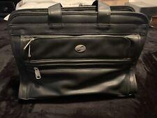 Vintage American Tourister Multi Pocket Laptop Messenger Leather Business Bag