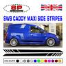 VW Volkswagon Caddy Vinyl Side Stripes SWB Van Decals Graphics #2