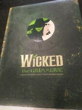 Wicked The Grimmerie Broadway Musical Hard Cover Book. Idina