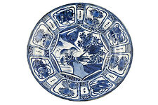 Large Antique Wanli Period Chinese KRAAK Porcelain Charger w/ Grasshopper