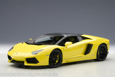 LAMBORGHINI AVENTADOR ROADSTER LP700-4 YELLOW 1:18 by AUTOART #74699 NEW IN BOX