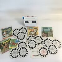 Vintage 70s GAF View Master Viewer Reels Disney Bambi Cinderella Snoopy Lot