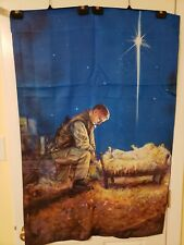 Welcome Flag Satin 29x43 A Soldiers Christmas 132470 366