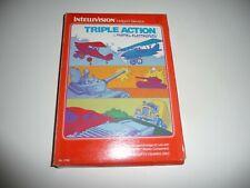 1981 Vintage TRIPLE ACTION w/ Box MATTEL INTELLIVISION Video Game RACING Tanks !