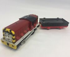 THOMAS THE TRAIN TRACKMASTER  SALTY W/ Black Flatbed Cargo Car Tested 2009
