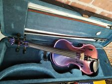 Barcus Berry Chromatic AE Acoustic Electric Violin Outfit, Purple/Shifting Color
