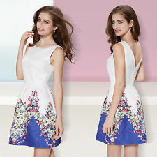 Polyester Ball Gown Casual Floral Dresses for Women