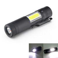 New Mini Portable Aluminum Q5 LED Flashlight XPE&COB Work Light lanterna Po V2Y4