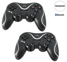 2x Bluetooth Wireless Controller Gamepad für PC und PlayStation PS3  by Tramani
