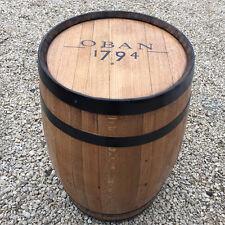 """Rovere massello riciclato Whisky Barrel """"OBAN"""" Branded PATIO tavolo"""