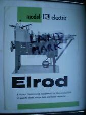 More details for vintage ludlow elrod model k electric slug casting machine brochure letterpress