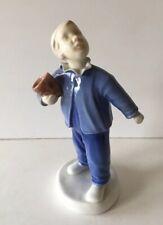 "Bing & Grondahl B & G Denmark Boy With Pail ""Who Is Calling"" Figurine #225/Ea"