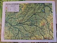 Ancien Document Pédagogique Géographie en Relief Pays de Loire Moyenne