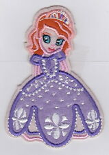 PRINCESS SOFIA THE FIRST Disney Iron on Patches/Sew On/Applique/Embroidered