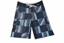 Hurley  PHANTOM 60 LAUNCH True Navy Blue Red White Stripes Men's Boardshorts