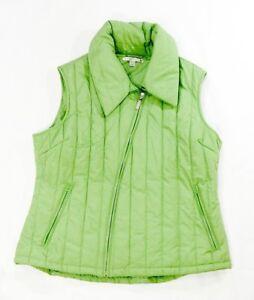 Cutter & Buck women's vest green size XL full zipper polyester
