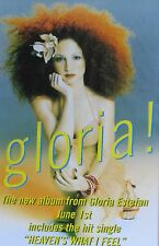 "40x60"" HUGE SUBWAY POSTER~Gloria Estefan Crazy Hair ""Gloria"" Heaven's NOS Orig.~"