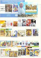 2015 Vaticano Annata Completa Nuovi Come Unificato 29 Valori + 2 Bf  Integri