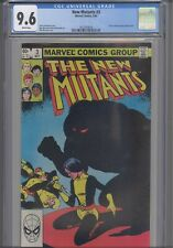 New Mutants #3 CGC 9.6 1983 Marvel Comic (Uncanny X-Men #167 tie-in) :New Frame