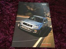 Toyota RAV4 Brochure 2003 - Nov 2002 UK Issue