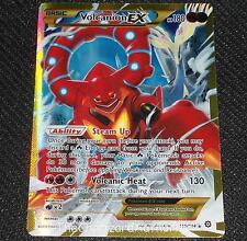 Volcanion EX 115/114 XY Steam Siege Set NEAR MINT Pokemon Card FULL ART SECRET